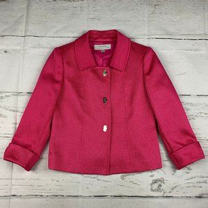 Tahari Arthur Levine 3/4 sleeve blazer jacket V18